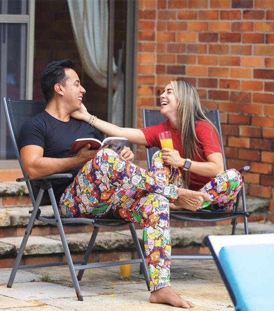 Pijama-Rugrats para Hombre-menpajama-sleepwear-nightwear-pijama-back