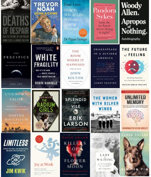 BOOKS- 20-NONFICTION BOOKS- MUST READ BOOKS IN 2020