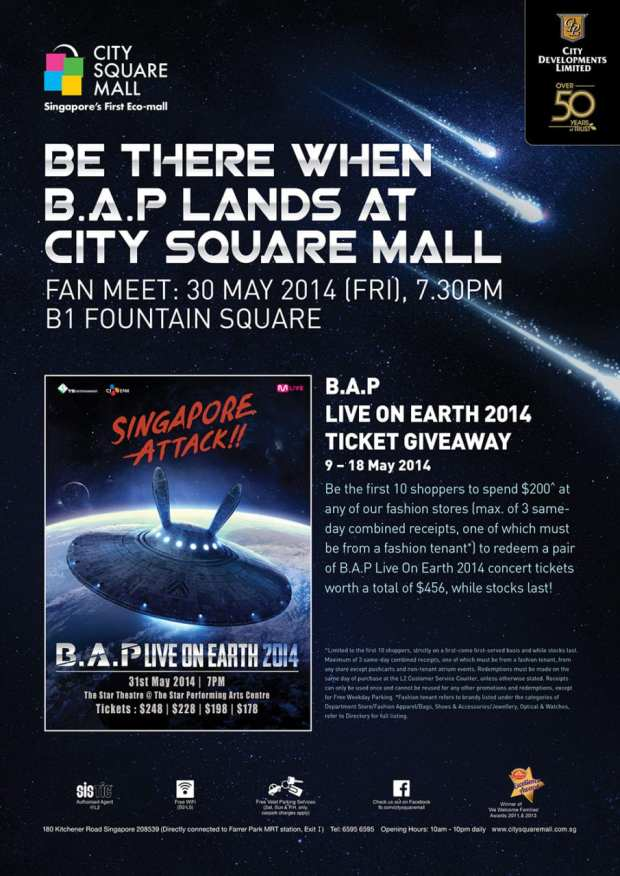[Event Listing] Be There When B.A.P Lands At City Square Mall