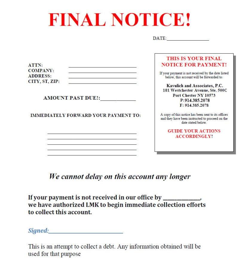 Debt Collection Letters For Unpaid Invoices