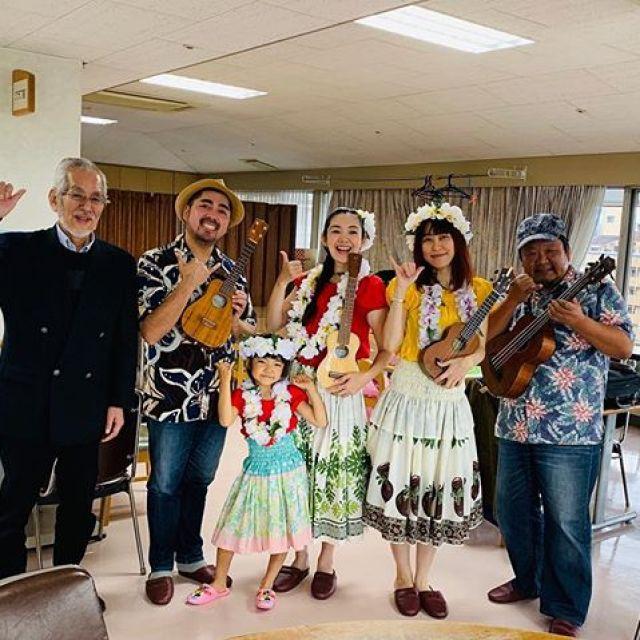 今日は慰問演奏で舟入のむつみ園にやって来ました。昭和歌謡&ハワイアンでもりあがりましたで!アンコールはまさかの、それゆけカープ!#唄うたいカワムラ