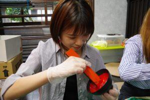 留学生塗り体験
