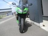 中古車 カワサキ NINJA400R スペシャルエディション グリーン/ブラック フロントサイド2