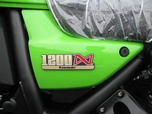 カワサキ ZRX1200 DAEG ファイナルエディション ライムグリーン サイドカバー
