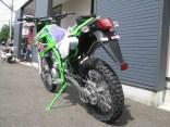 カワサキ KLX250 ファイナルエディション グリーン 後ろ側