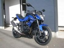 カワサキ Z250SL ブルー 前側2