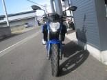 カワサキ Z250SL ブルー 前側