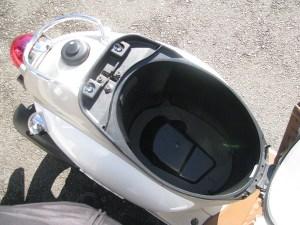 ヤマハ ビーノ(VINO) ホワイト ヘルメットボックス