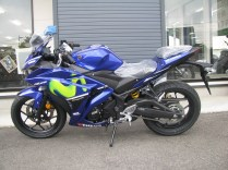 新車 ヤマハ YZF-R25 Movistar Yamaha MotoGP Edition ブルー 左側