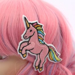 Pink Unicorn Hair Clip for Girls – Rainbow Unicorn