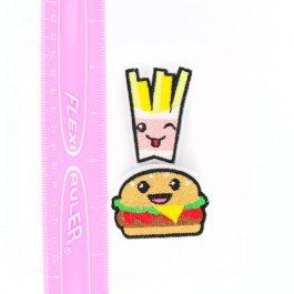 Kawaii Burger And Fries Hair Clips