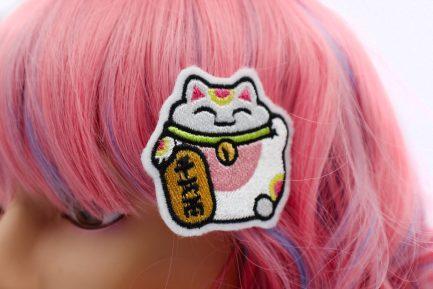 lucky cat hair clips