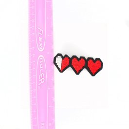 Gamer Life Hearts Hair Clips For Girls – Set of 2
