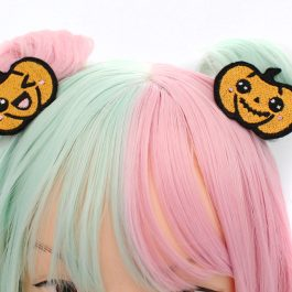 Kawaii Halloween Jack O Lantern Hair Clips