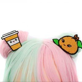 Kawaii Pumpkin Spice Latte Hair Clip Set