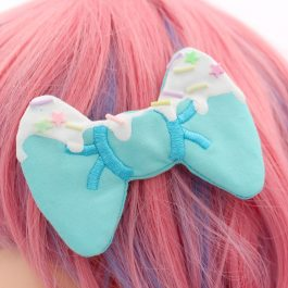 Super Cute Kawaii Frosted Decoden Hair Clips
