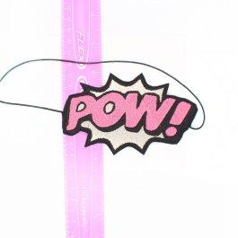 Superhero Headbands – POW Comic Book  – Pink and Silver