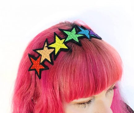 Super Cute Kawaii Rainbow Stars Womens Headband