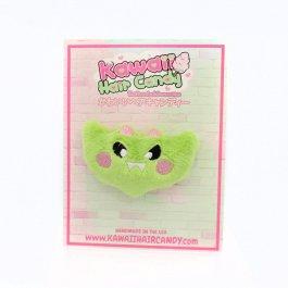 Kawaii Vampire Bat Plush Hair Clip – Zombie Green