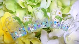 紫陽花ネイルサンプルチップ画像