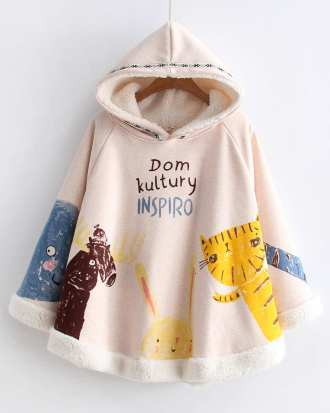 Winter Cat Animals  Poncho  Hooded