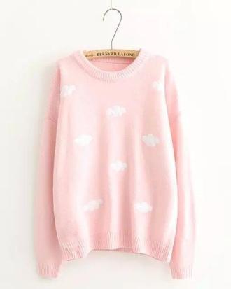 Sweater Sweet Cloud Beige Pink