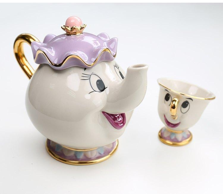 Tea set of Mrs. Potts and Chip - The Beauty and The Beast