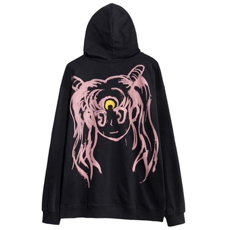 Sudadera kawaii del anime Sailor Moon con Bunny en la espalda