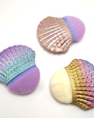 Brocha de maquillaje profesional de sirena, 1 ud., cola de pescado en polvo, herramientas cosméticas, brocha para esculpir