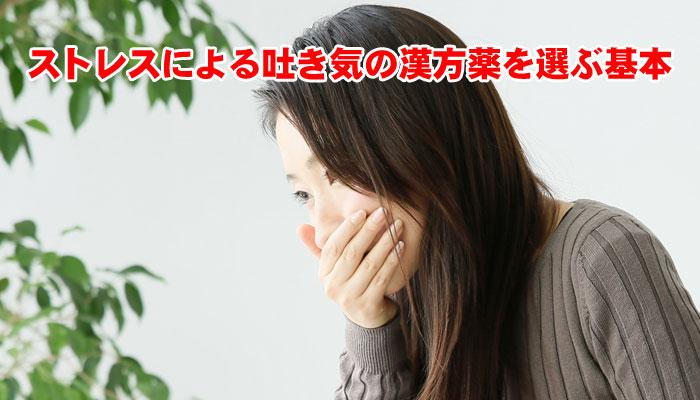 ストレスによる吐き気の漢方薬を選ぶ基本は胃と腸の強弱バランス