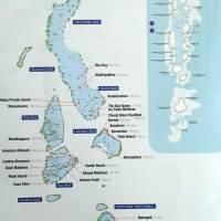 Mapa das ilhas Maldivas