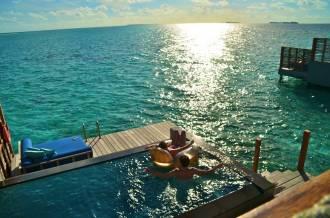 Bangalô de luxo nas ilhas Maldivas