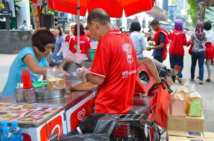 Sanduíche de sorvete em Singapura