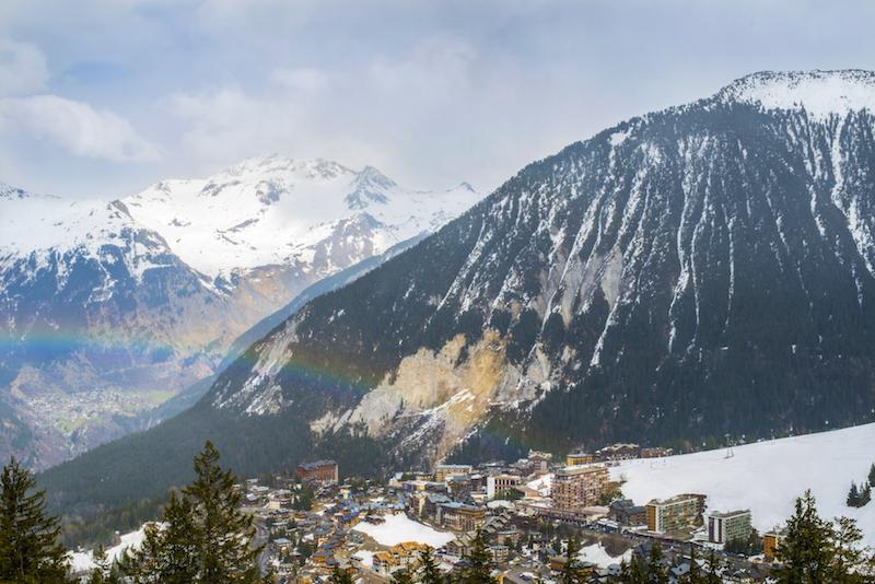 Fotos das montanhas em Courchevel na França