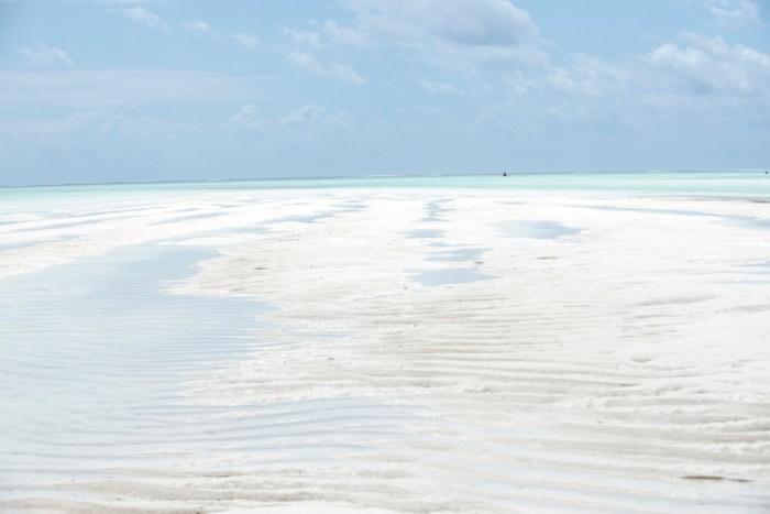 Maré baixa em Zanzibar