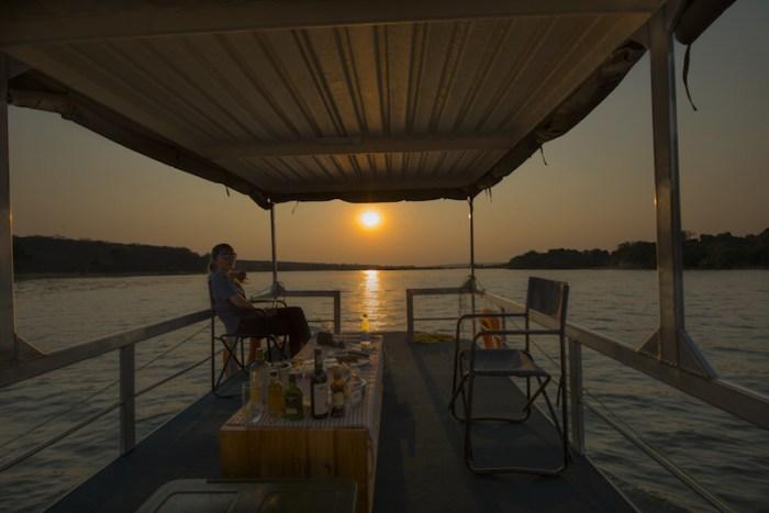 Cruzeiro no rio Zambezi