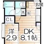 セジュールⅠ 03号室間取り図