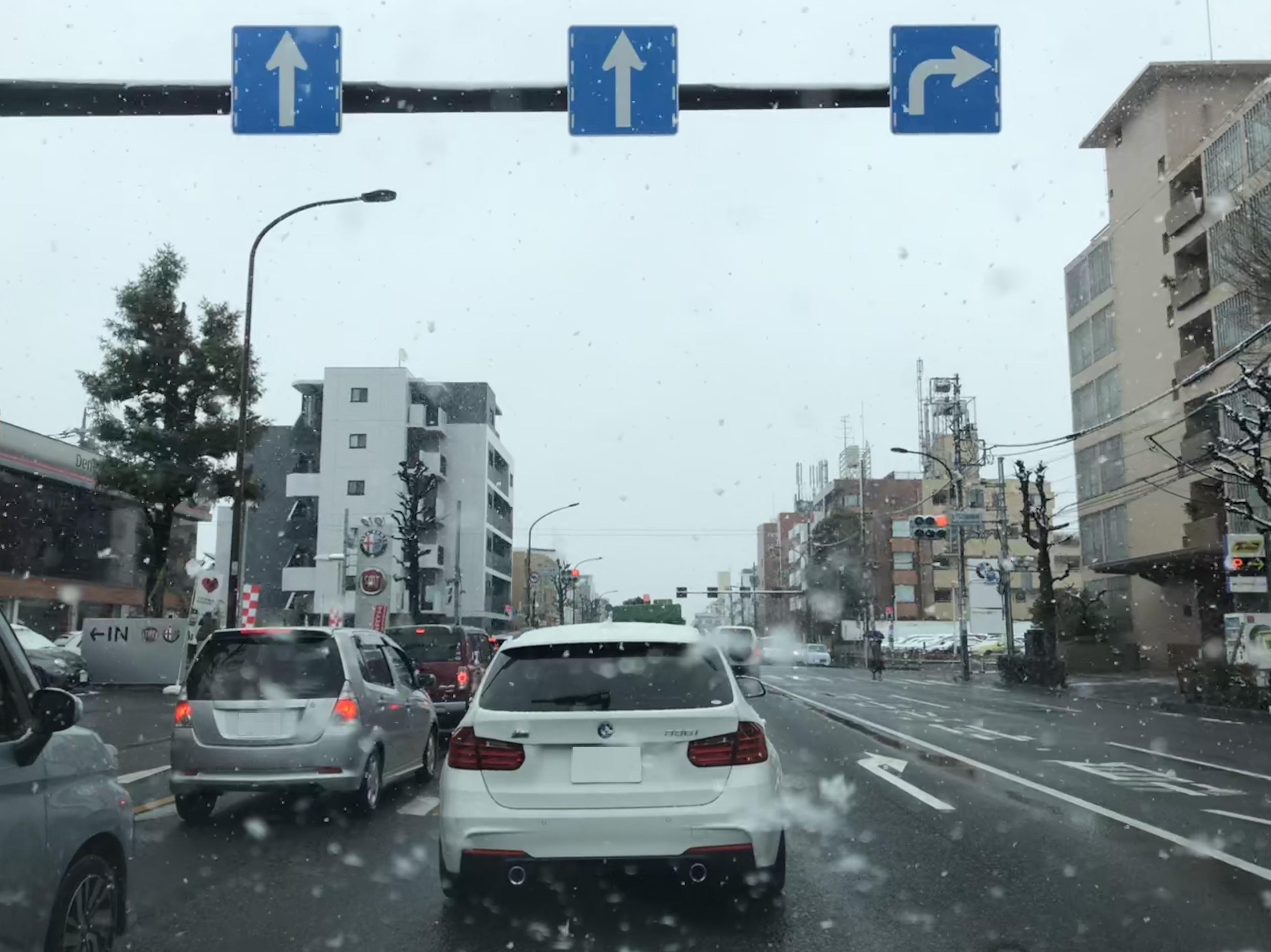 祝日スケジュール~雪のなかノーマルタイヤで帰宅(-_-;)