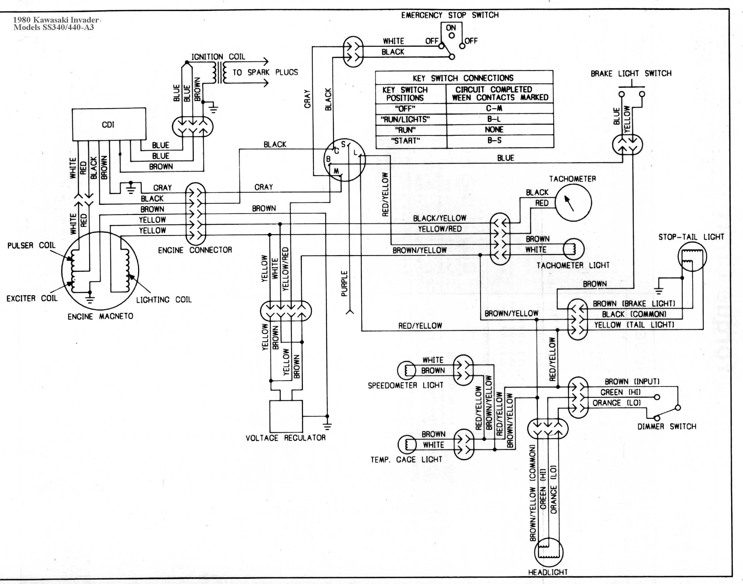 164c For A Kawasaki 440 Ltd Wiring Diagram