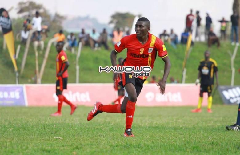 Muhammed Shaban Celebrates a goal for the Uganda Cranes against Kampala Region Select team