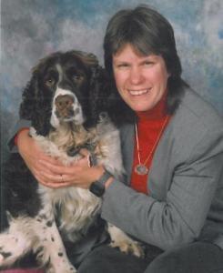 Sandy Kubillus and Kaylee, her springer spaniel