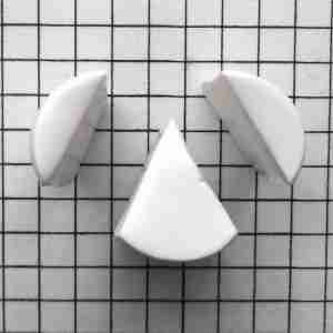 "step-by-step tutorial how to create an ""A"" polymer clay cane letter"