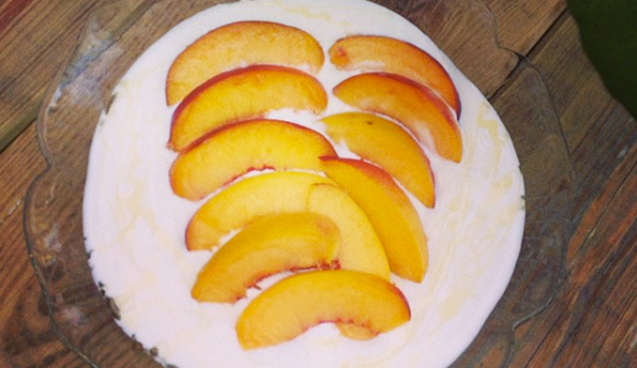 Greek Joghurt with peaches