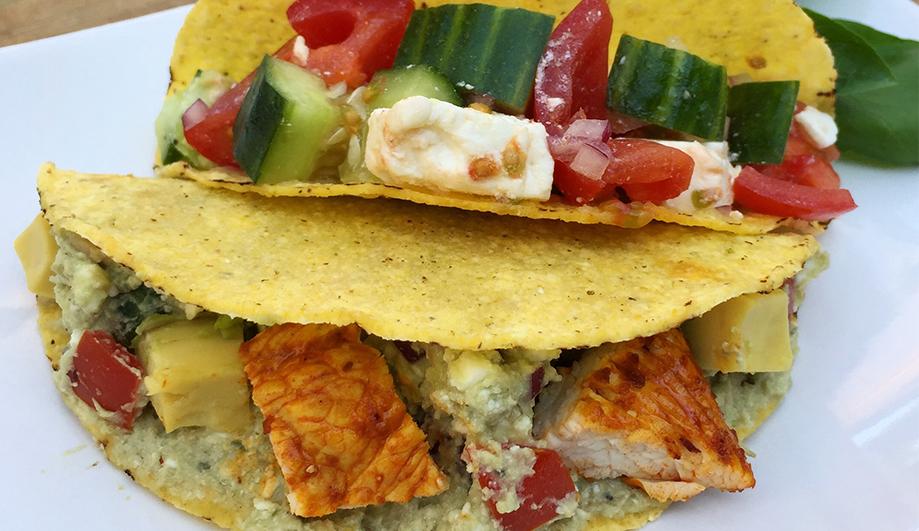 Glutenfreie Tacos mit verschiedenen Füllungen