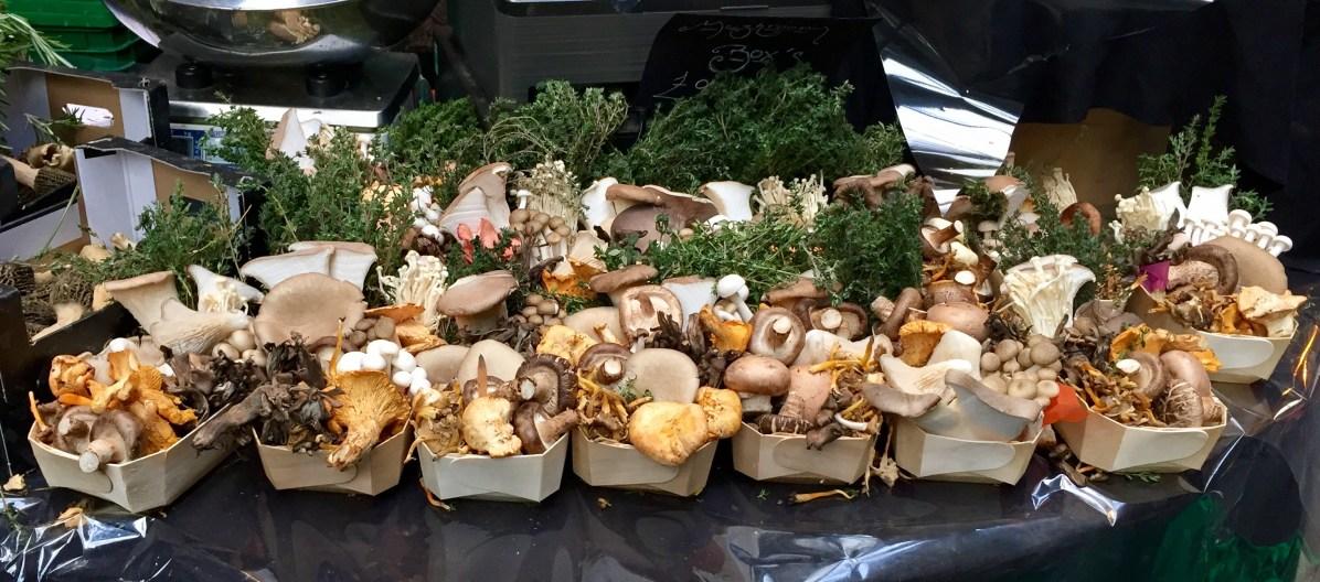 Pilze auf dem Borough Market
