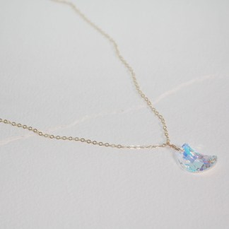 Swarovski Crystal Moon necklace