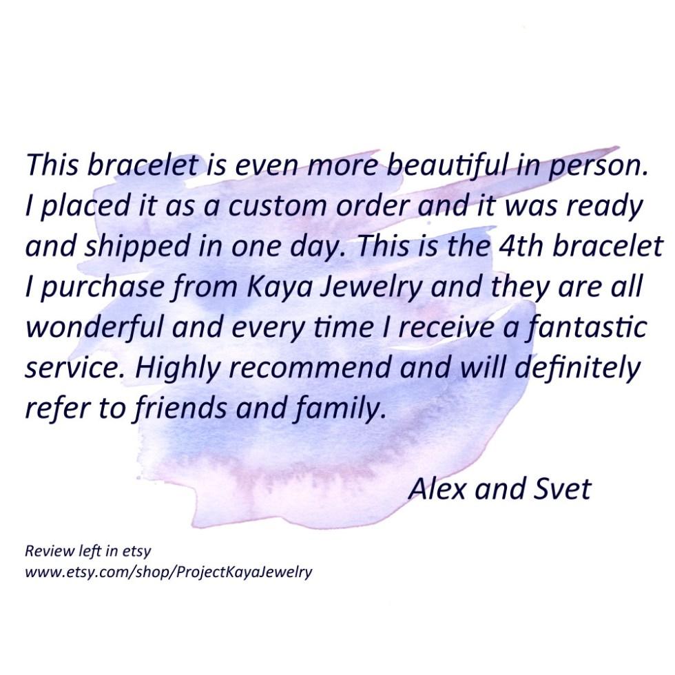 Kaya Jewelry Positive customer feedback