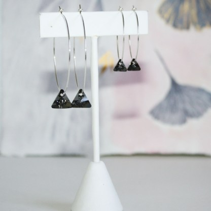 Large-Swarovski-Crystal-Silver-Night-Triangle-Sterling-Silver-Hoops-3