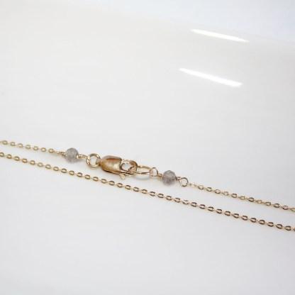Peruvian Chalcedony and Aquamarine Necklace4
