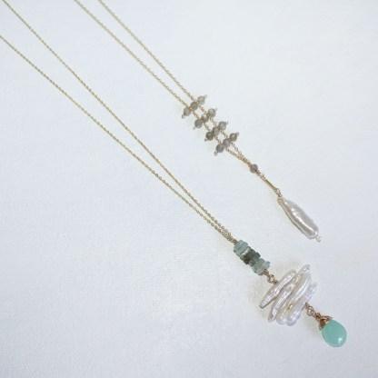 Peruvian Chalcedony and Aquamarine Necklace3